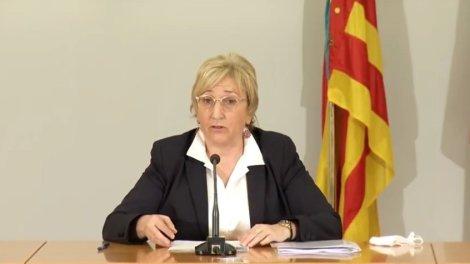 Ana Barceló durante su comparecencia este martes/informaValencia.com