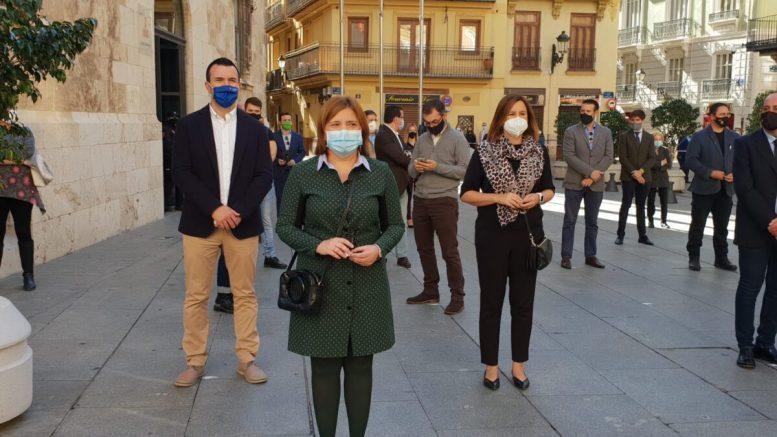 La presidenta del PP Comunidad valenciana en el acto en recuerdo de las víctimas del Covid. / Img. PPCV