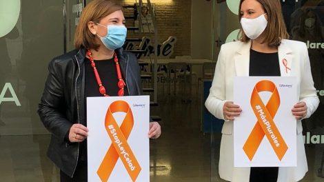 Isabel Bonig y María José Catalá en la sede del PP en valencia este miércoles/informaValencia.com