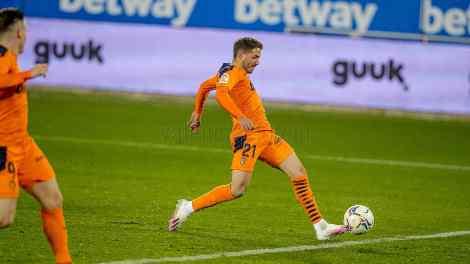 Manu Vallejo puso el 2-1 en el marcador y revolucionó el ataque del Valencia./ VCF