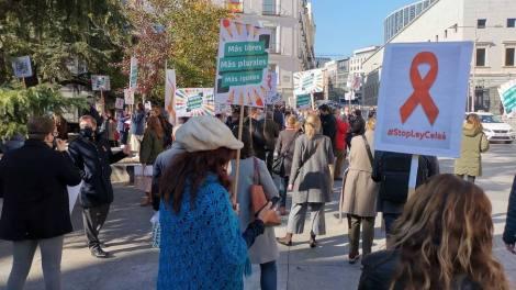 Protesta de la Educación Concertada en el Congreso. /twitter