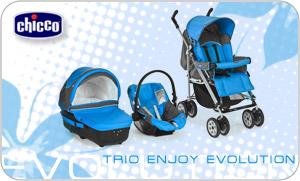 Solo su Bimbomarket la fantastica collezione di passeggino Trio Enjoy Evolution firmata Chicco