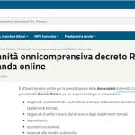 Domanda bonus Covid del Decreto Ristori al via: scadenza 18 dicembre