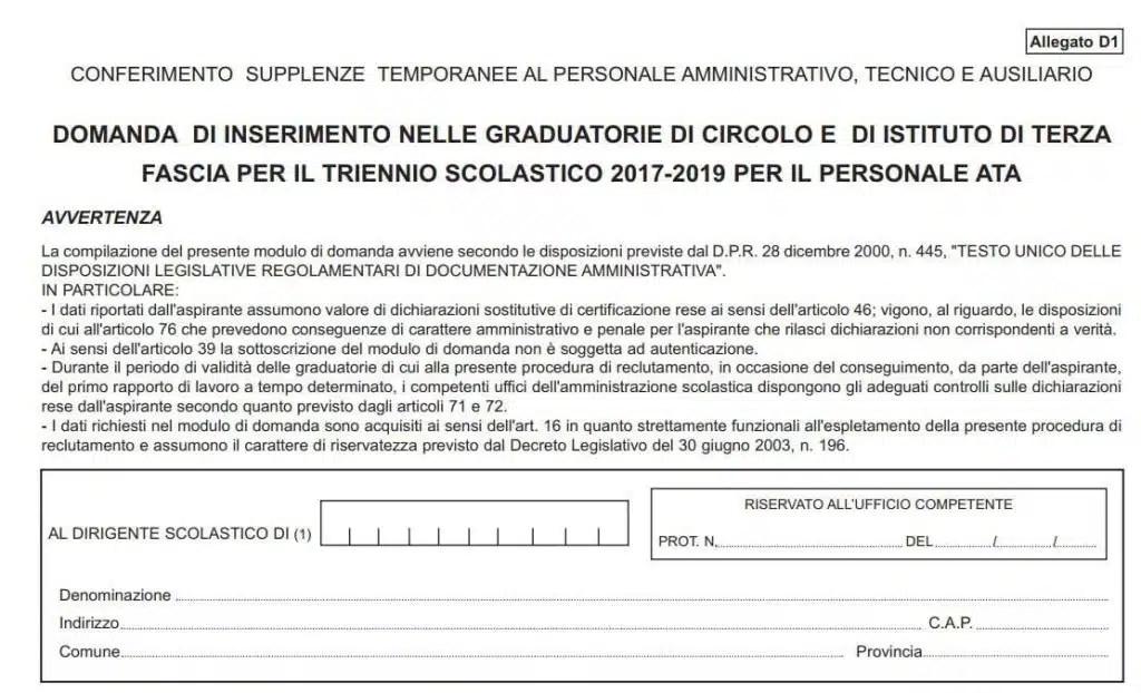 Iscriversi Alle Graduatorie Ata 20172020 Guida Alla