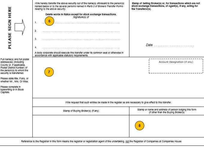 Stock transfer form J30 template and guide - Inform Direct