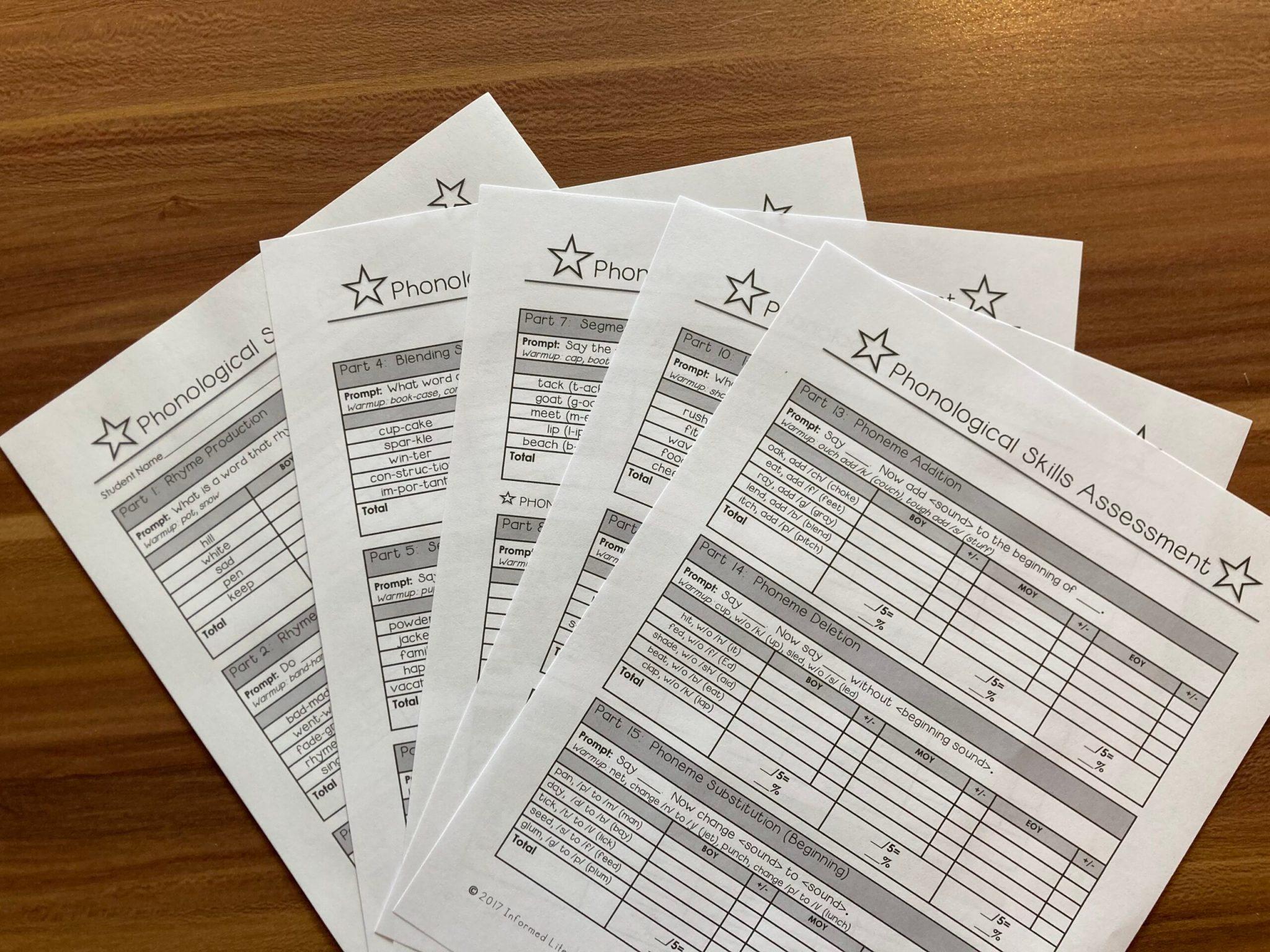 Phonological Skills Assessment