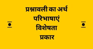 प्रश्नावली का अर्थ, परिभाषाएं, प्रकार, विशेषता - Questionnaire in Hindi