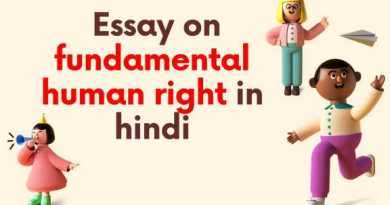 Essay on fundamental human right in hindi