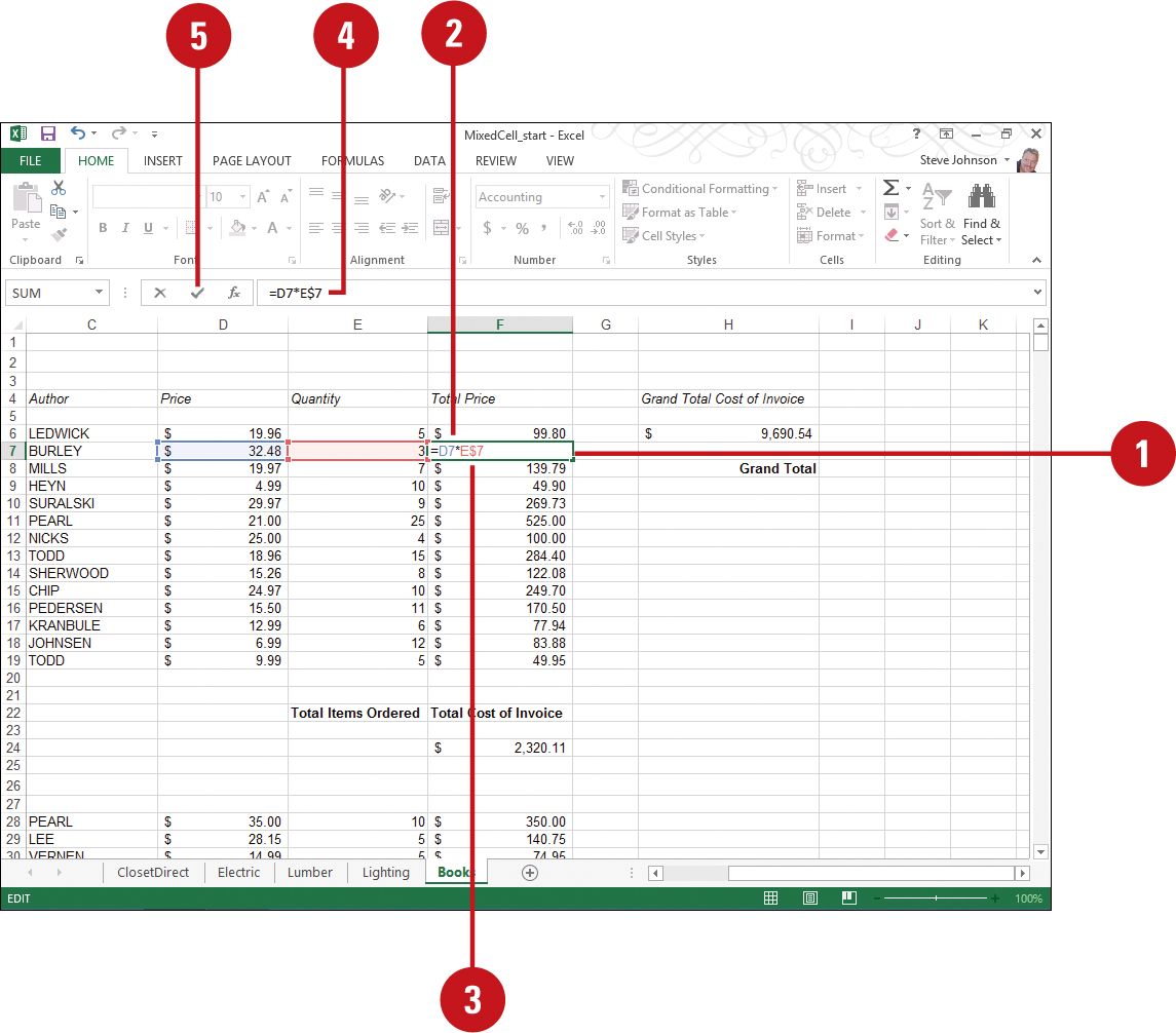 Worksheet Reference Formula Excel