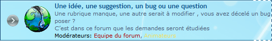 Suggestion, Bug, Question