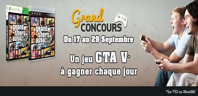 GTA V : Concours Facebook by Rue du Commerce