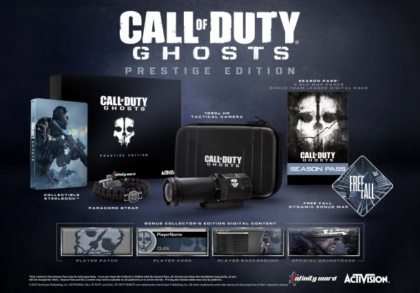 Contenu Call of Duty : Ghosts Prestige