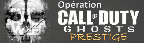 Bannière Opération Call Of Duty : Ghosts Prestige à la PGW2013