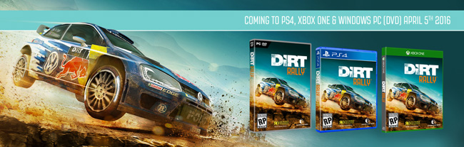 DiRT Rally - Annonce console