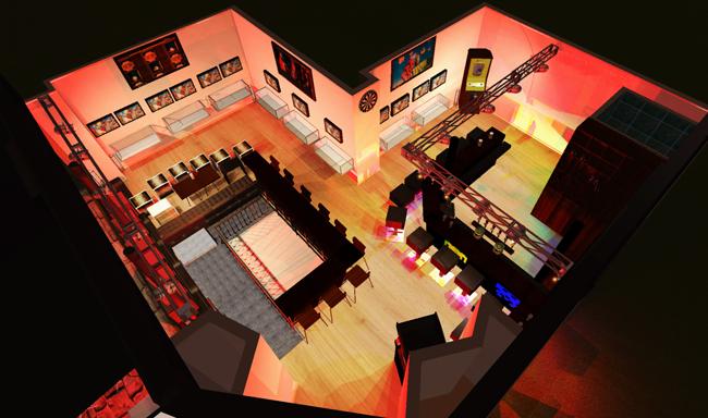 """Bar """"Le Reset"""" : Plan du rez-de-chaussé"""
