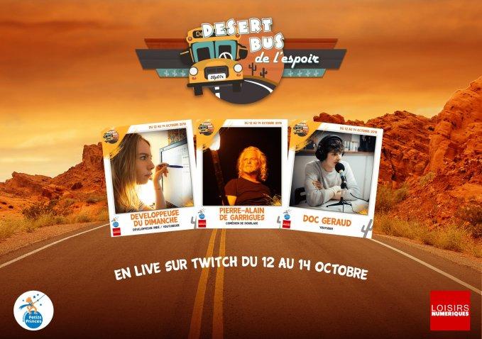 Desert Bus #6 : Developpeuse du dimanche, Pierre-Alain De Garrigues et Doc Geraud