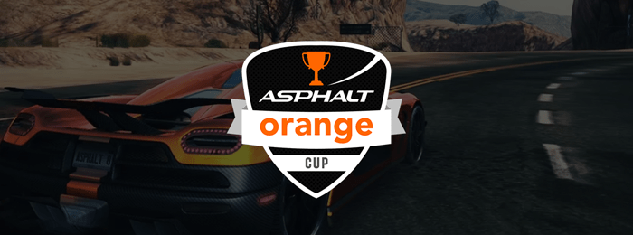 Orange Asphalt Cup