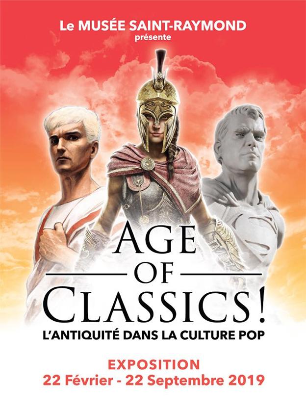 """Exposition """"Age of Classics ! L'antiquité dans la culture POP"""""""