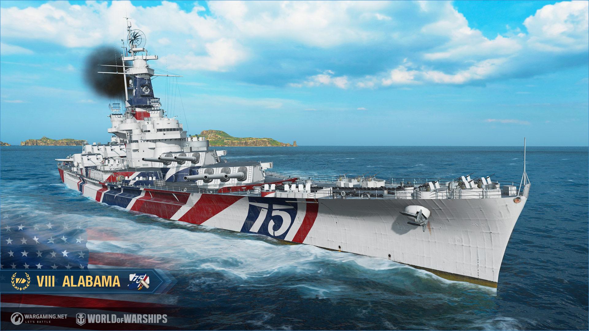 World of Warships : Alabama screenshot