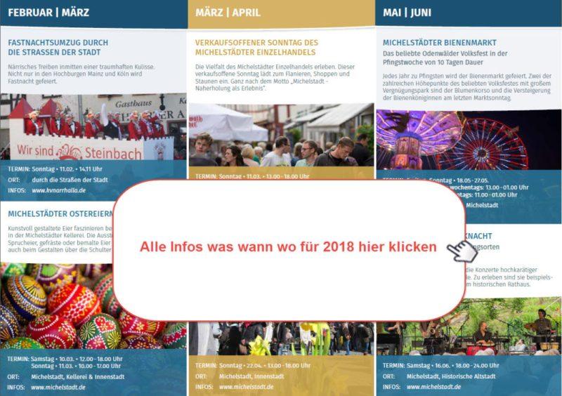 Veranstaltungkalender der Stadt Michelstadt