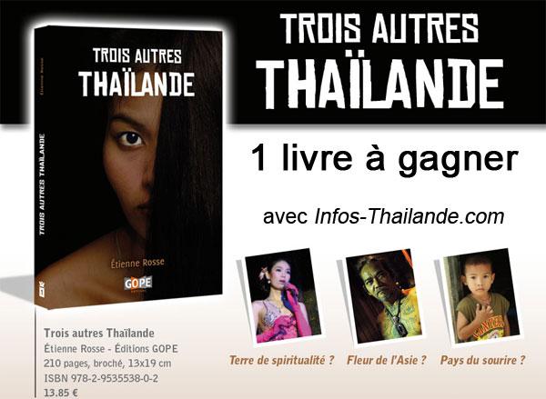 Jeu concours : un livre Trois autres Thaïlande à gagner