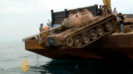 Des chars d'assaut jetés à la mer pour les poissons