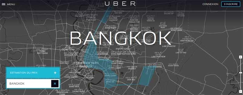 La société de VTC Uber illégale en Thaïlande