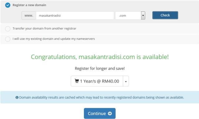 shiftserver pendaftaran domain lulus