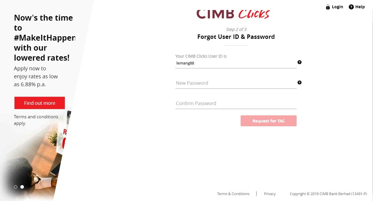 Lupa Kata Laluan Cara Reset Password Cimb Click Terbaru Infosantai