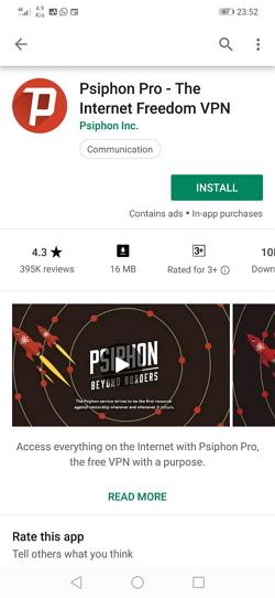 apps Psiphon Pro