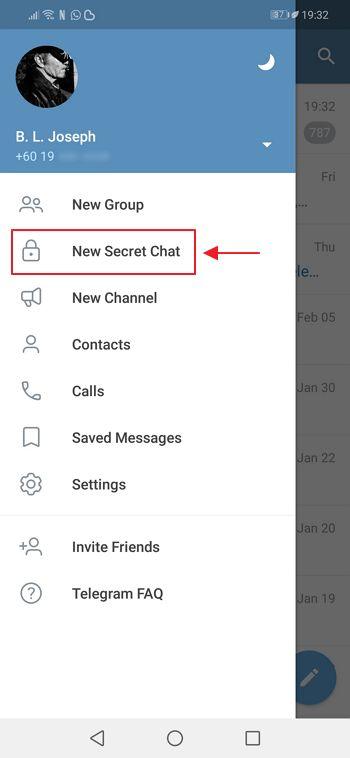 secret chat telegram