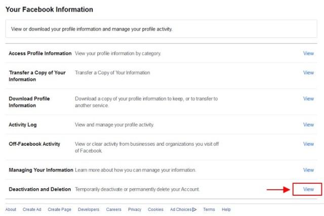 cara padam akaun facebook anda
