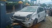 Lampu Jalan Tidak Berfungsi, Dua Kendaraan Terlibat Tabrakan
