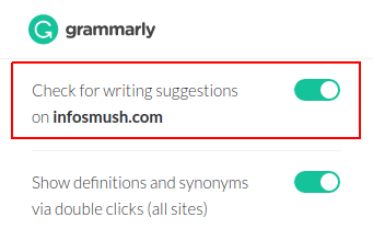 turn off grammarly
