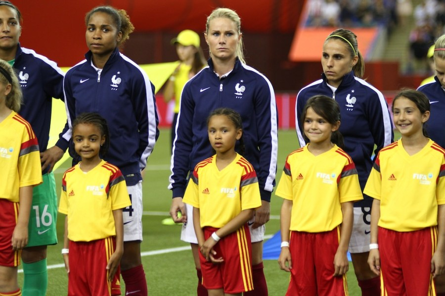 Revivez le match France v Allemagne en images