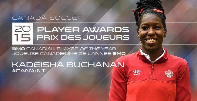 Buchanan nommée Joueuse canadienne de l'année BMO 2015