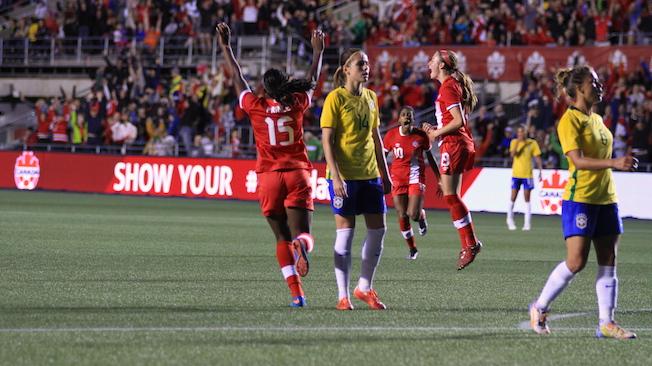 Victoire de l'équipe nationale féminine 1-0 face au Brésil à Ottawa