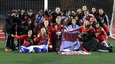 Deuxième titre national en trois ans pour le rouge et or!