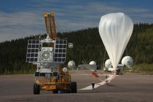 Proceso de llenado de helio en el globo