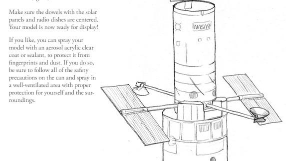 2 PDFs. Modelo de Papel del Telescopio Hubble