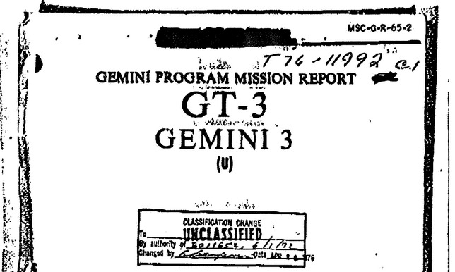 PDF. Gemini 3 Mission Report