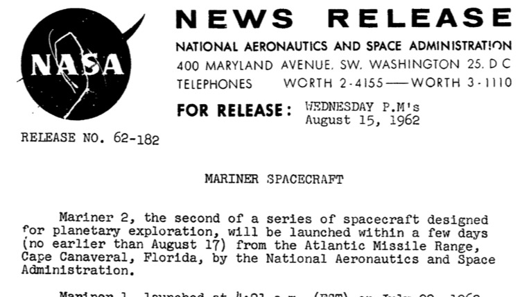 PDF. Mariner II Press Kit