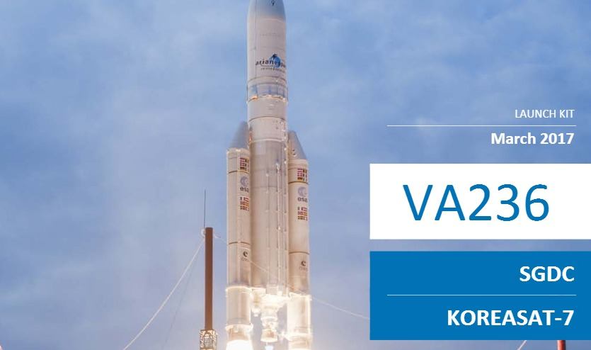 2 PDF. Ariane 5 V236 – KoreaSat 7 – SGDC Launch Press Kit – GB & FR