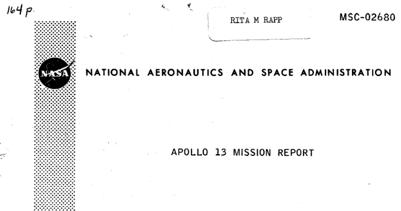 PDF. Apollo 13 Mission Report