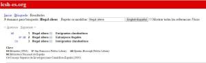 "Registros para ""Illegal aliens"" de BNE, CSIC, entre otras. www.lcsh-es.org"