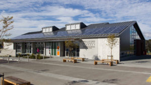 Biblioteca de New Northland (NZ) con páneles solares