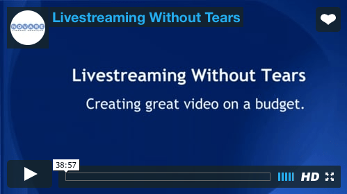 Chris Demmons, 'Live Streaming Without Tears'. Florida Library Webinars. http://floridalibrarywebinars.org/9922-ondemand/