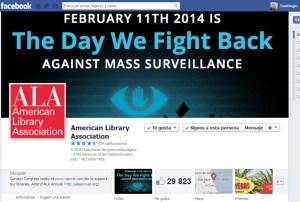 La página oficial de la Asociación Americana de Bibliotecas -ALA- apoya la iniciativa #TheDayWeFightBack
