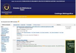 Catálogo bibliográfico desarrollado con KOHA