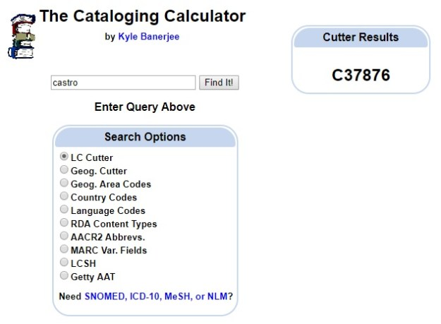 Cataloging Calculator